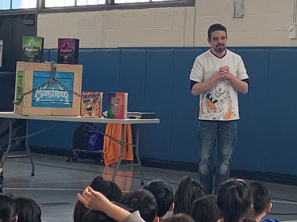 Author & illustrator Daniel Jude Miller visits Center Street